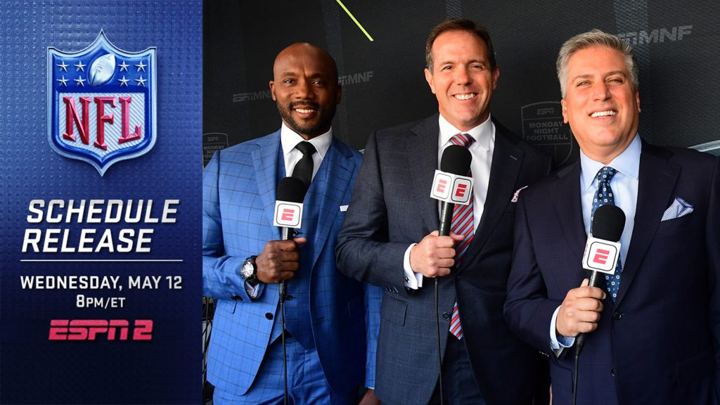 ESPN Celebrates the 2021 NFL Schedule Unveiling with Three Primetime Specials on Wednesday Night; ABC's Good Morning America Begins the Day with Monday Night Football News